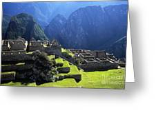 Machu Picchu And Urubamba Canyon Greeting Card