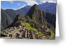 Machu Picchu Greeting Card