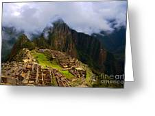 Machu Picchu Overlook Greeting Card