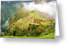 Machu Picchu Textured 2 Greeting Card