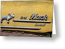 Mack B-61 Diesel Greeting Card