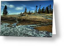 Mackenzie Point Outcrop Greeting Card