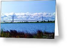 Mackinac Bridge Landscaped Greeting Card