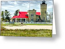 Mackinac Point Lighthouse Michigan Greeting Card