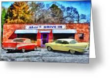 Mac's Drive In Greeting Card