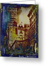 Macys Three - Neo-grundge - Famous Buildings And Landmarks Of New York City Greeting Card