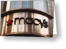 Macys Signage Greeting Card