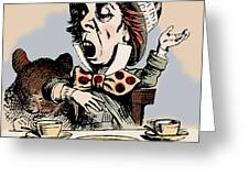 Mad Hatter Color Greeting Card by John Tenniel