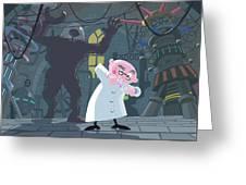 Mad Professor Experiment Greeting Card