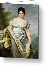 Madame Tallien 1773-1835 Oil On Canvas Greeting Card