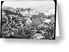 Madeira Public Garden Old Fort 1903 Greeting Card