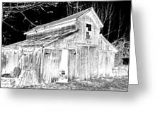 Madeline S Barn - Black And White Greeting Card