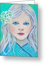 Madelyn Little Angel Of Clear Vision Greeting Card