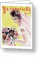 Mademoiselle Cover Featuring A Bride Greeting Card