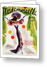 Mademoiselle Cover Featuring A Model Wearing Greeting Card
