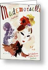 Mademoiselle Cover Featuring A Woman Greeting Card