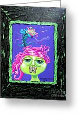 Mademoiselle Flutterby Greeting Card