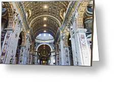 Maderno's Nave Ceiling Greeting Card