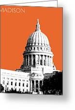 Madison Capital Building - Coral Greeting Card