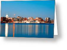 Madison Skyline Greeting Card