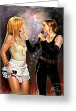 Madonna And Britney Spears  Greeting Card