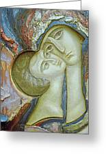 Madonna And Child Greeting Card by Alek Rapoport
