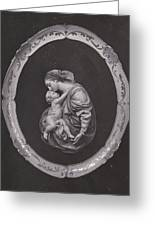 Madonna And Child Greeting Card by Allan Koskela