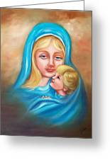 Madonna And Child Greeting Card by Joni McPherson