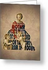 Madonna Typography Artwork Greeting Card