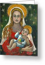 Madonna With Baby Jesus Greeting Card