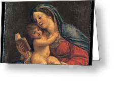 Madonna With The Child Greeting Card