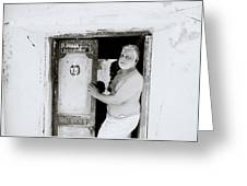 Madras Man Greeting Card