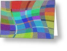 Madras Twist Greeting Card by Gregory Scott