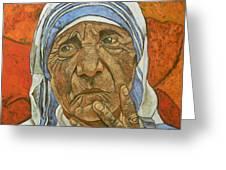 Madre Teresa Di Calcutta Greeting Card