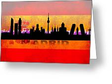 Madrid City Greeting Card