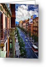 Madrid Morning Greeting Card