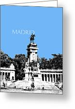 Madrid Skyline Retiro Park - Light Blue Greeting Card