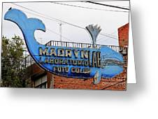 Madryn Lab Whale Sign Greeting Card