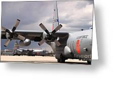Maffs C-130s At Cheyenne Greeting Card