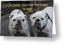 Mafia Bullies Greeting Card