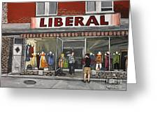 Magasin Liberal Notre Dame  Greeting Card by Reb Frost