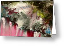 Magenta Cliffs Greeting Card by Carole Johnson