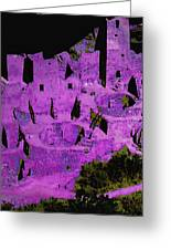 Magenta Dwelling Greeting Card