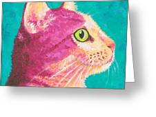 Magenta Kitty Greeting Card