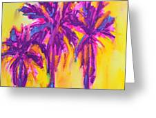 Magenta Palm Trees Greeting Card