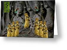 Magic As The Tree People Celebrate Health Greeting Card