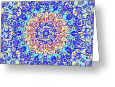 Magic Carpet Ride Blue Greeting Card