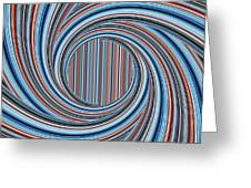 Magic Colorful Abstract Twisted Background Greeting Card