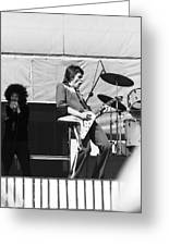 Magic Dick And J. Geils In Oakland 1976 Greeting Card