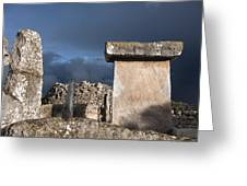 Bronze Edge In Minorca Called Talaiotic Age Unique At World - Magic Island 1 Greeting Card